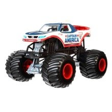 HOT WHEELS MONSTER JAM TERENÓWKA KAPITAN AMERYKA CHV12