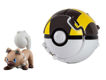 POKEMON FIGURKA Z ROCKRUFF + ULTRA BALL - T19113