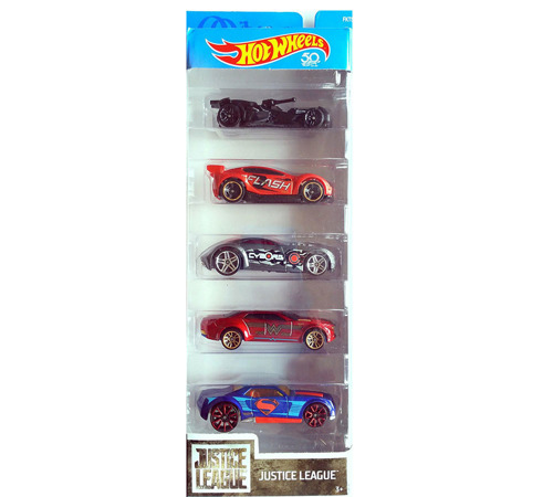 HOT WHEELS AUTA METALOWE ZESTAW 5-PAK JUSTICE LEAGUE - FKT50