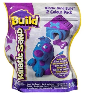 KINETIC SAND BUILD PIASEK PURPURA NIEBIESKI - 68156