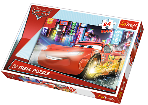 TREFL - PUZZLE 24 MAXI MIASTO NOCĄ CARS MOVIE - 14235